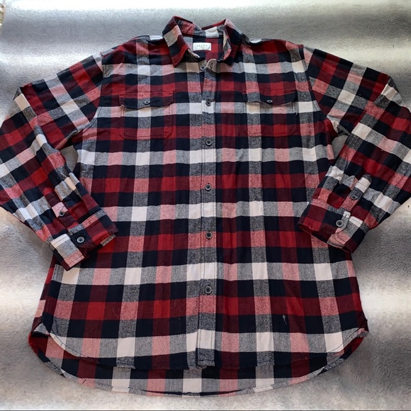 Jachs Other - Jachs Red/Black/White Brawny Plaid Flannel Shirt